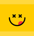 emoji smile icon symbol on yellow background vector image