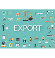 Export flat icons vector image vector image
