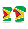 Flag shirt design of Guyana vector image vector image