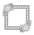 flowers decorative frame vector image