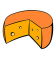 french cheese icon cartoon vector image