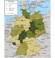 Germany map with selectable territories vector image vector image
