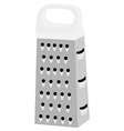 Grater with white handle vector image vector image