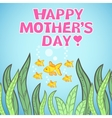 Greeting card design with fish for Mothers Day vector image