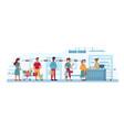grocery store queue social distance coronavirus vector image vector image