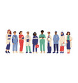 hospital team medical employees in uniform vector image vector image