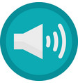 icon of a sound on button in flat style vector image vector image