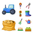 isolated object of farm and agriculture icon vector image vector image
