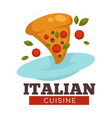 italian cuisine traditional food of italy pizza vector image