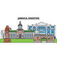 jamaica kingston city skyline architecture vector image