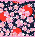 japanese cherry blossoms vector image