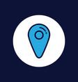 location icon sign symbol vector image vector image