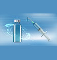 medical syringe and a vial with an vaccine vector image