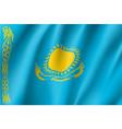 national flag of kazakhstan republic vector image vector image