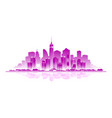 new york city emblem vector image vector image