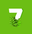 number seven with fresh vector image vector image
