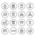 outline travel icon set vector image vector image