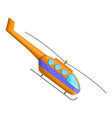 passenger helicopter icon cartoon style vector image