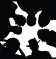 people senior silhouette with hat in black color vector image