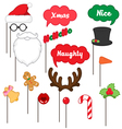 photo booth props for merry Christmas vector image