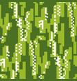 pixel style glitch flat seamless pattern vector image