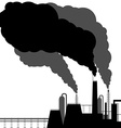 Pollution Black silhouette on a white background vector image vector image