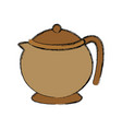 porcelain teapot isolated vector image vector image