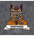 Portrait of German Shepherd Hand-drawn vector image