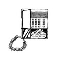 push-button phone with answering machine vector image vector image