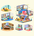 quarantine stay home motivational concept series vector image