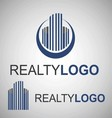 realty logo 4 2 vector image vector image