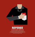 Referee With Red Card vector image vector image
