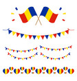 romanian flags and design elements vector image vector image