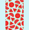 seamless pattern with watermelons slice vector image vector image