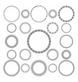set of round and circular decorative frame vector image vector image