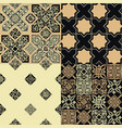 set patterns in style persian tiles vector image vector image