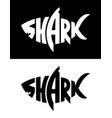 shark logo design vector image vector image