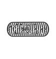 skateboarding ethnic stylized typography vector image vector image