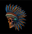 skull indian side position vector image vector image