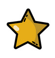 star shining in the sky decoration design vector image vector image