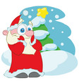 surprised santa claus cartoon character vector image vector image