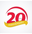 Template Logo 20 Anniversary vector image vector image