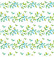 Tender spring foliage seamless pattern in hand vector image vector image