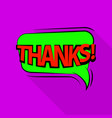 thank icon pop art style vector image