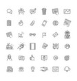thin line icons set icons for marketing vector image vector image