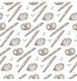 traditional german baked pretzels salty sticks vector image