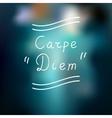 Typographic design Carpe Diem vector image
