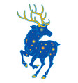 unusual space deer with shining stars vector image vector image