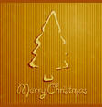 christmas greeting card with yellow background vector image