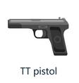 tt pistol gun military handgun weapon firearm vector image